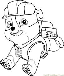 Rubble Paw Patrol Coloring Page Fresh Paw Patrol Painting Games