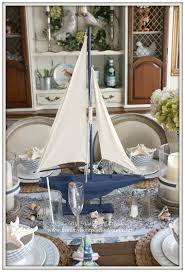 Nautical Table Settings French Farmhouse Nautical Dining Room Welcome Home Summer Tour