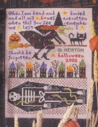 Birds Of A Feather Remember Me On Halloween Cross Stitch