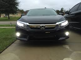 2016 Honda Crv Fog Light Assembly Changed Fog Lights To Led W Diy Video 2016 Honda Civic