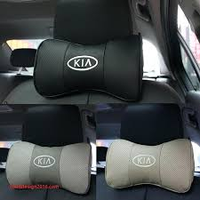 ergonomic car seat 2 x genuine leather headrest neck pillow car auto seat cover head neck