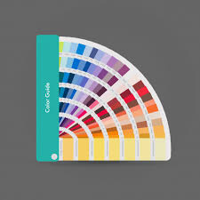 Illustration Of Pantone Colors For Print Guide Book For