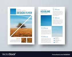 Flyer Template For Pages Template For The Front And Back Pages Of The