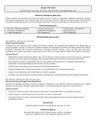 Senior Financial Analyst Resume Sample Sample Core Competencies For Resume Luxury Financial Analyst