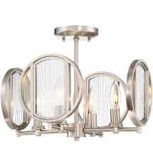 Minka Lavery 4 Light Minka Lavery 3067 84 Via Capri Brushed Nickel 4 Light Semi Flush