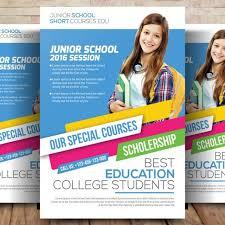 school brochure design ideas kids education flyer template kids education school