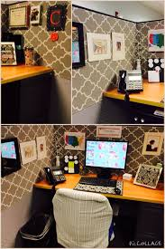 Cubicle Makeover - everything but the weird thing over the chair.