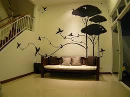 ... Homes Sweet Looking Wall Paintings Design Birds Trees Creative Wall  PaintingWall Painting DesignCreative ...