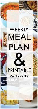 Weekly Menu For One Weekly Meal Plan Week One The 36th Avenue