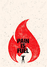 Pain Is Fuel Sport And Fitness Motivation Quote