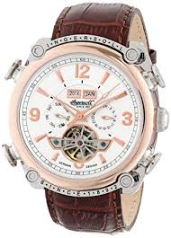 ingersoll men s montgomery automatic watch white dial ingersoll men s montgomery automatic watch white dial analogue display and brown leather strapin4505rwh ingersoll amazon co uk watches