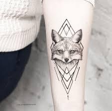 Geometric Fox Tattoo On Hand Tattoo татуировки милые тату и тату