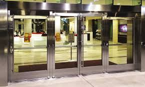 aluminum framed entrance doors