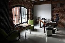loft home office. Natural Brick House Design Interior And Decoration For Small Modern Loft Home Office With Exposed Wall Ideas