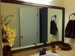 Bathroom Mirror Frame Miscellanea Etcetera Diy Bathroom Mirror Frame For Less Than 20