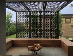 Pergola/privacy screen made using decorative screens. These are QAQ  Decorative Screens & Panel's