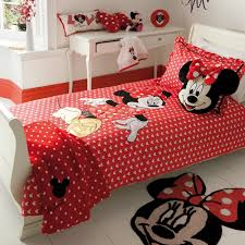 mickey mouse theme bedsheet rug for girl bedroom