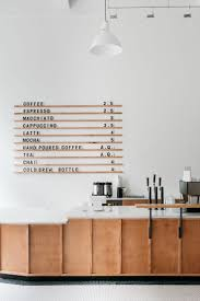 Menu board at Passenger Coffee's new Coffee Bar ...