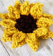 Crochet Sunflower Pattern Impressive Crochet Sunflower Pattern