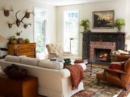 Ideas For Decorating A Living Room Rustic Living Room Fireplace