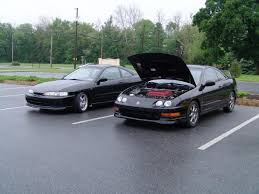black acura integra jdm. one jdm front end itr and typer with hood popped black acura integra