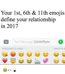 Your 1st 6th 11th Emojis Define Your Relationship In 2017