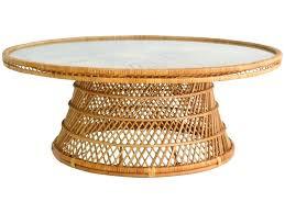 round wicker table coffee fresh mid century woven rattan cocktail for mats round wicker table