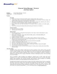 Cover Letter Duties Of Sales And Marketing Manager Key