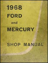 1968 mercury wiring diagram original marquis monterey montclair 1968 ford galaxie mercury big car original repair shop manual