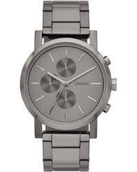 shop men s dkny watches from 80 lyst dkny soho oversized gunmetal chronograph watch men s lyst