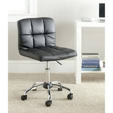 modern black faux leather cushion home office desk chair