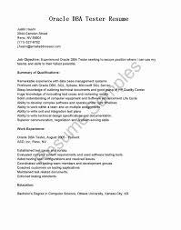 Database Testing Resumes Oracle Dba Fresher Resume Sample Doc New Dba Resume Sample Dba