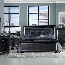 bedroom sets. Contemporary Bedroom Allura Black 5 PC Queen Bedroom Throughout Sets