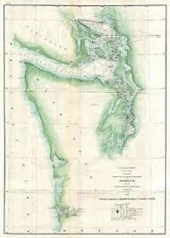 Details About 1859 Coastal Survey Map Nautical Chart Of The Puget Sound And Washington Coastal