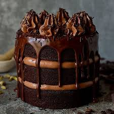 Chocolate Coffee Cardamom Layer Cake With Swiss Meringue