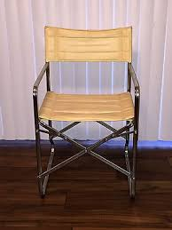 folding metal directors chairs. vintage mcm mid century folding metal director\u0027s chair beige vinyl directors chairs h