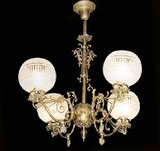 victorian brass gas chandelier 114