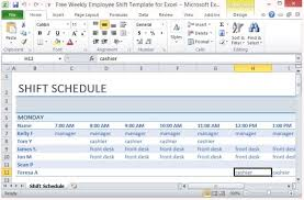 excel for scheduling free weekly employee shift template for excel