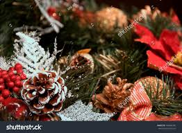 beautiful christmas decorations. Beautiful Christmas Decorations: A Cone With Snow, Golden And Ball Decorations O