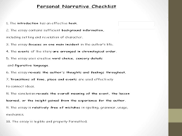 personal and story writing ppt 18