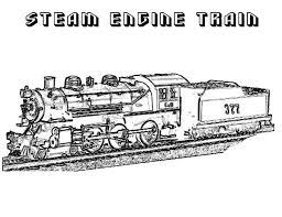 Feel free to print and color from the best 36+ polar express coloring pages printable at getcolorings.com. Steam Engine Train On Railroad Coloring Page Color Luna