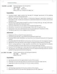 Second Job Resume