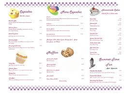 7 Menus Sweet Cupcakes Photo Cupcake Bakery Menu With Prices