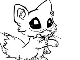Small Picture Cute baby fox coloring page Download Print Online Coloring
