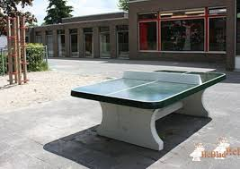 concrete ping pong table. Green Concrete Ping-pong Table Rounded Ping Pong