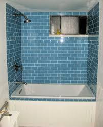 sky glass subway tile shower