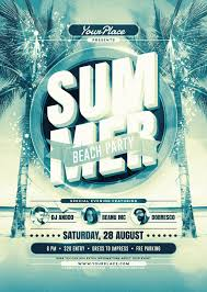 Summer Beach Party Event Flyer Poster Template Fresh Modern And