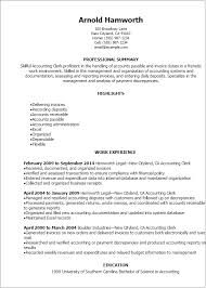 Resume Templates: Accounting Clerk Resume