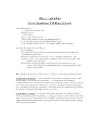 Science Conclusion Template Lab Report Example For Project