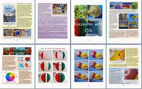 preview of art instruction book on oil painting